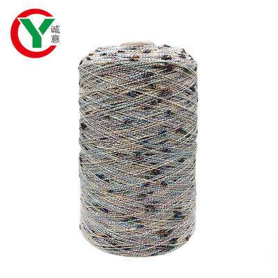 Popular Space Dyed Colorful Slub 100% Polyester Dot Yarn Fancy Yarn for Knitting