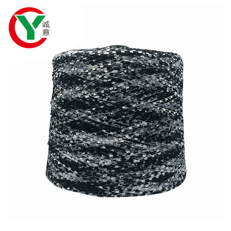 Eco-friendly Quality Space Dyed 100 Polyester Brush Yarn for Knitting
