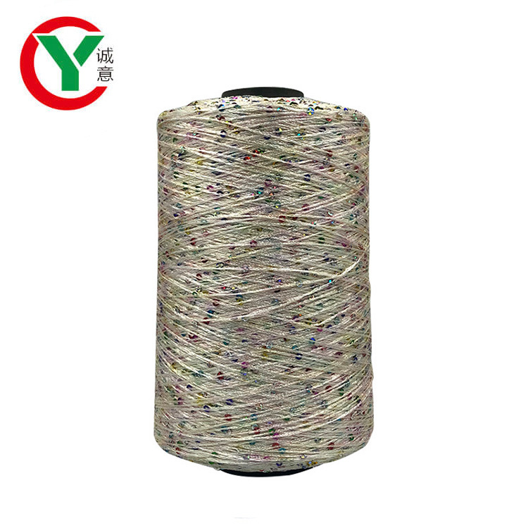 New Arrival Eco-friendly Quality Colorful 2mm Fancy Sequin Yarn
