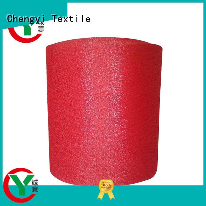Chengyi glitter knitting yarn hot for wholesale