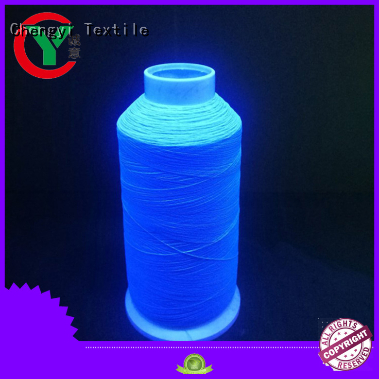 Chengyi glow in the dark yarn cheapest price factory direct supply