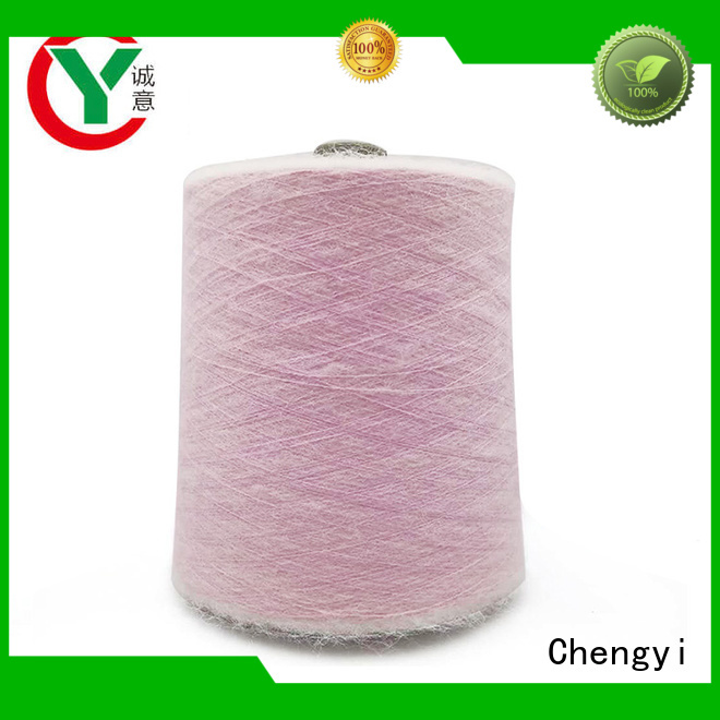 Chengyi mohair knitting yarn light-weight for wholesale