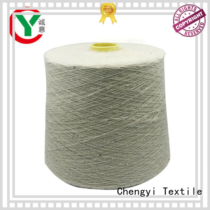 professional sequin wool yarn top light-weight