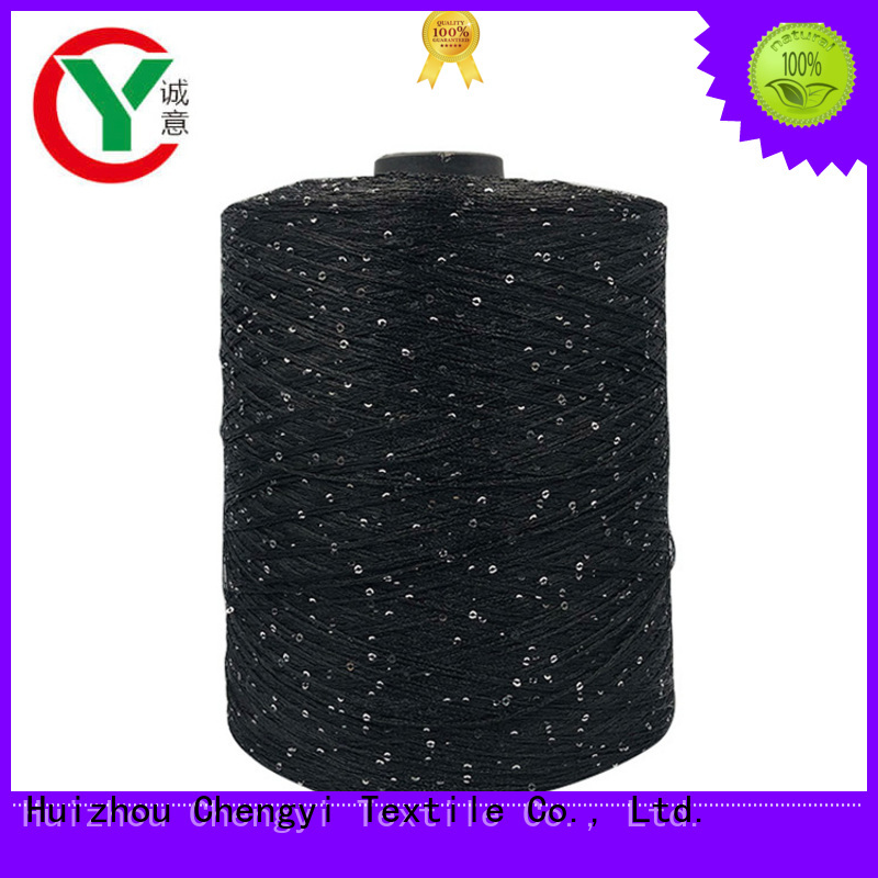 cheapest price sequin knitting yarn best OEM