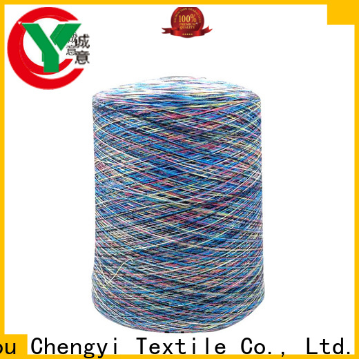 Chengyi rainbow knitting yarn hot-sale best factory