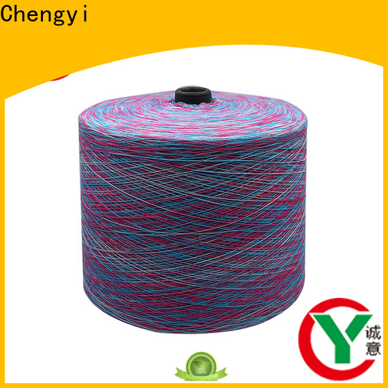 Chengyi colorful rainbow knitting yarn factory price for wholesale