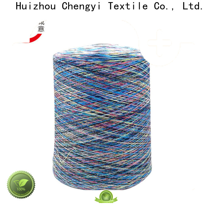 bulk supply space dyed polyester yarn hot-sale fast delivery