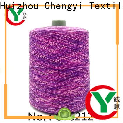 Chengyi bulk supply rainbow knitting yarn factory price for wholesale