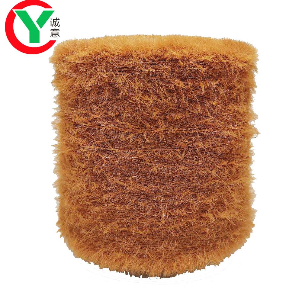 Chinese hot sale good quality100%nylon  mink fur feather yarn