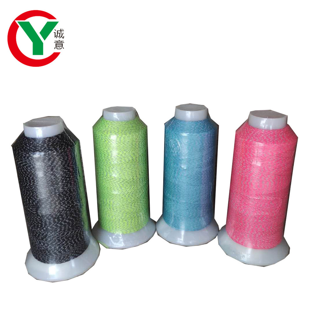 Reflective sewing thread reflective material can be customized for shoes