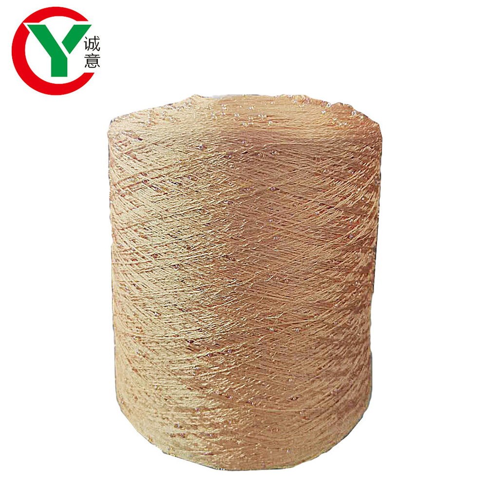 China factory direct sale color round beads 100% polyester yarn for hand knitting