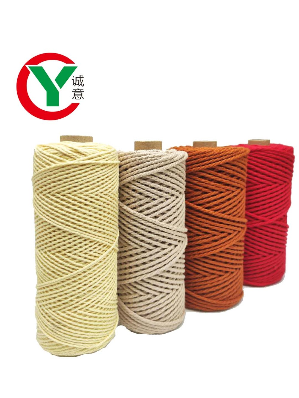 2MM Macrame rope 100% Cotton Natural Color Handmade Soft 4 ply Cotton Cord Rope