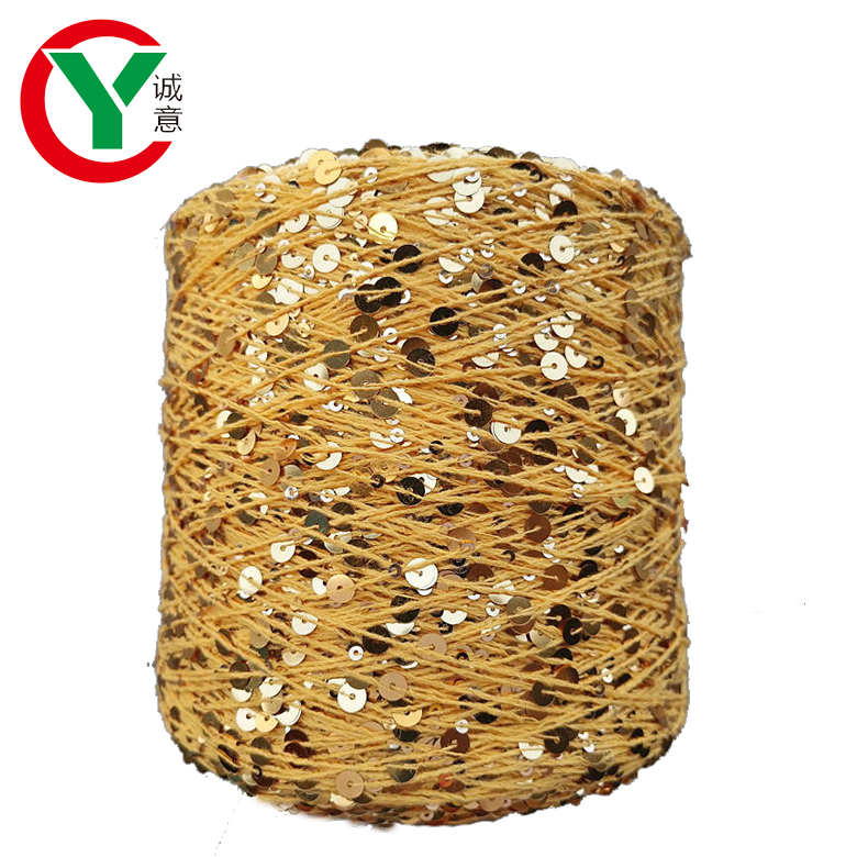 New instagram Fashion  3mm+6mm Sequins Yarn For Knitting Sweater