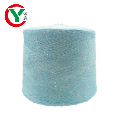 Wholesale 1/14Nm acrylic  blended sequin yarn for knit sweater