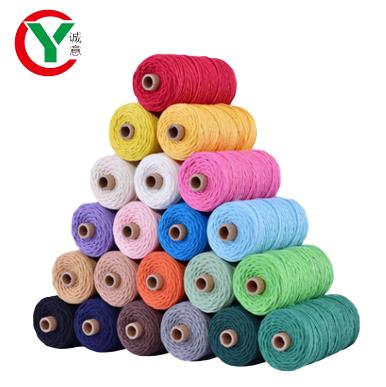 Wholesale macrame organic cotton twisted cord