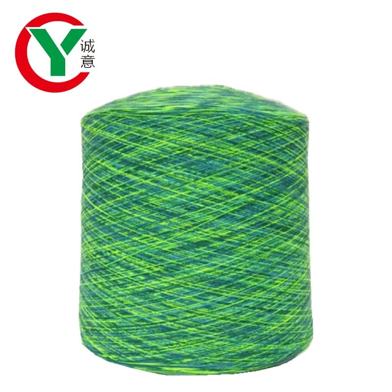 Wholesale space dye polyester/cotton/acrylic crochet yarn for knitting