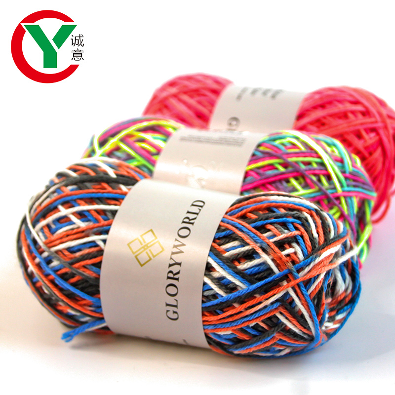 Wholesale Space dye 100%Acrylic knitting yarn DIY crochet yarn used for knit