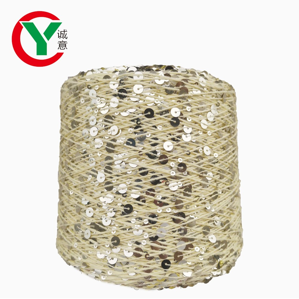 New 2020 Instagram Hot Sell 6mm+3mm Paillette With Cotton Thread for Hand knitting