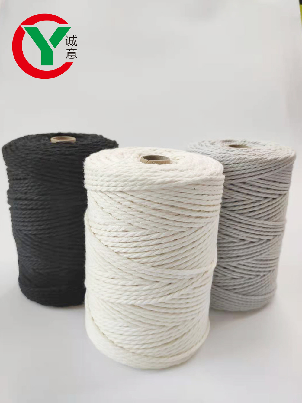 Ready to ship combed milk cotton knitting cord for resell /top quality customized natural color 4mm cotton rope