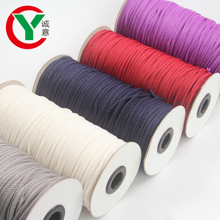 2021 New Products DIY Multicolor Rope Drawstring Hollow Braided Rope Polypropylene Metal Thread Fancy Hand knitting Rope