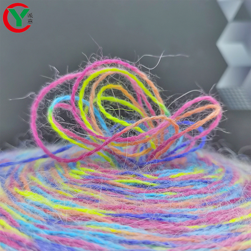 2021 New Space Dyed Soft and fluffy Rabbit Wool Angora Yarn