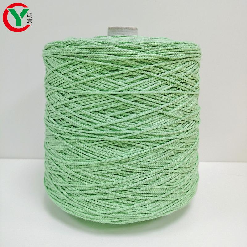 Factory Wholesale 100% Cotton Braided Rope Hand Knitting Handbag Jewelry Fancy Cotton Cone Yarn 3mm